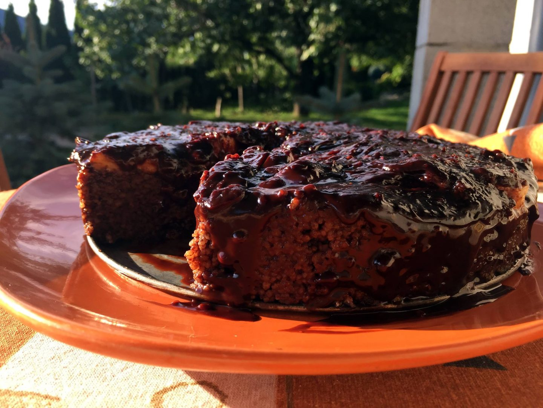 Čokoládovo-kuskusový koláč
