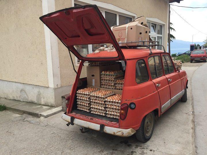 preprava vajicok v macedonsku