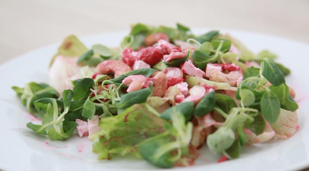 osviezujuci salat s malinami