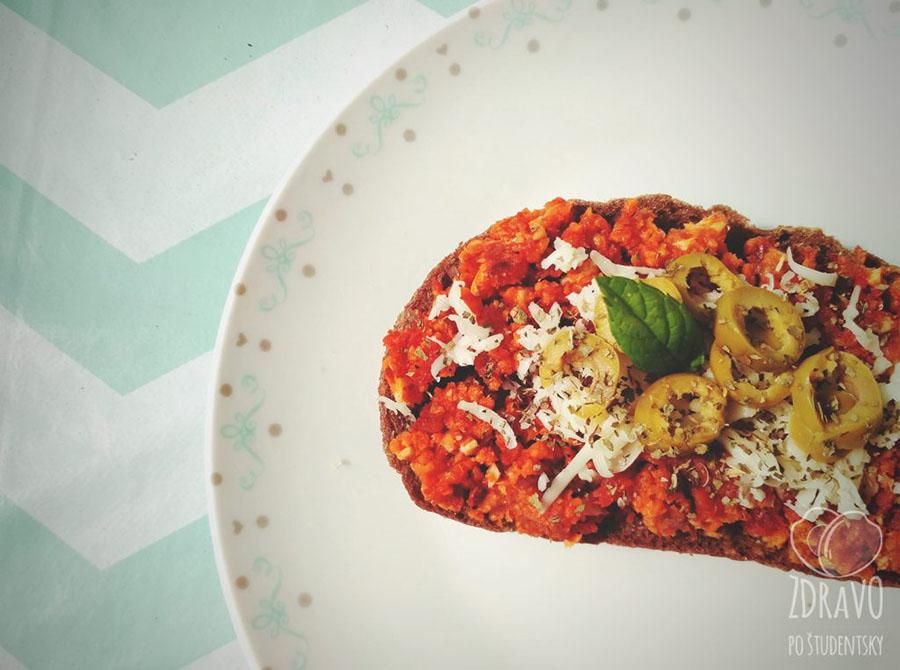 Nátierka zo sušených paradajok