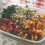 salat s klickami a hokkaido tekvicou