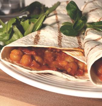 Cícerové kari s tortillou alebo ryžou