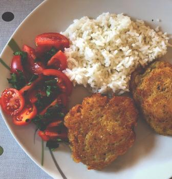 Zdravý nedeľný obed – seitan v zemiakovom cestíčku